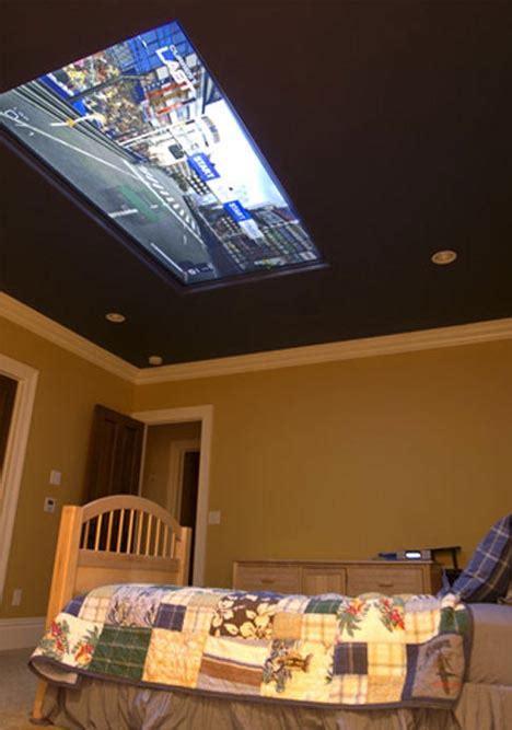 home  cool kids bedroom design   ceiling tv