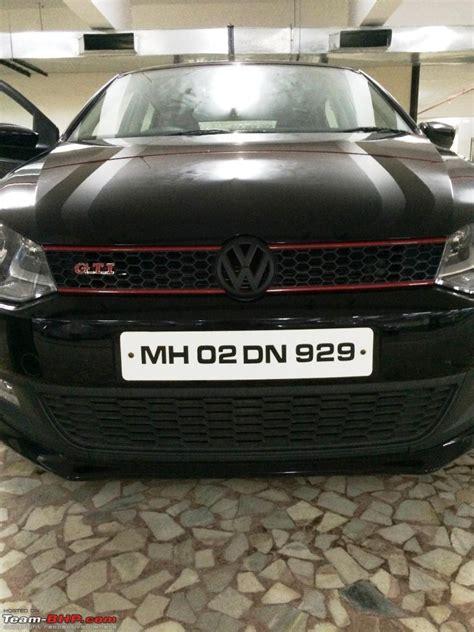 volkswagen polo black modified my vw polo gt tsi modified team bhp