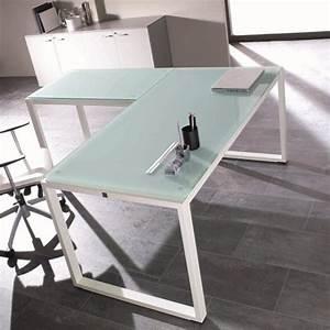 Verre Pour Table : table bureau verre table pour imprimante lepolyglotte ~ Teatrodelosmanantiales.com Idées de Décoration