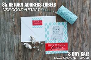 3 day sale 5 return address labels anders ruff custom With address labels on sale