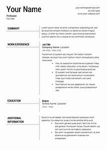 Free resume templates resume cv for Free resume examples