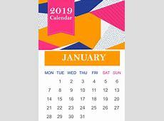 January 2019 Blank Calendar Download Free Printable