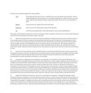Subcontractor Resume Sle by Standard Building Contract Template 28 Images