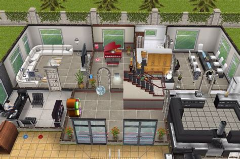 sims freeplay second floor house 3 2nd building ground floor plan sims freeplay