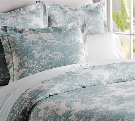 Matine Toile Duvet Cover & Sham  Dark Porcelain Blue