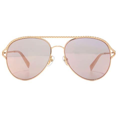 marc metal twist pilot sunglasses in gold pink marc