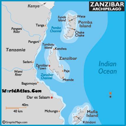 zanzibar map  map   zanzibar archipelago
