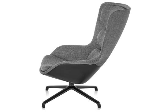 eno lounge chair high back striad high back lounge chair with 4 base