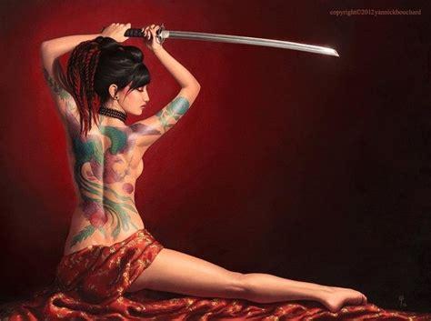 Girl Tattoo And Katana Katana Girl Samurai Art Warrior Girl