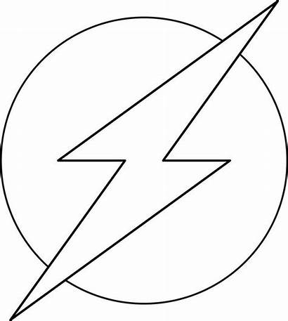 Flash Coloring Pages Symbol
