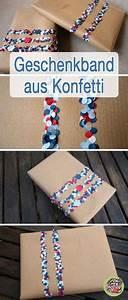 Geschenk Verpack Ideen : geschenkband aus konfetti diy selber machen schleifen und geschenke ~ Markanthonyermac.com Haus und Dekorationen
