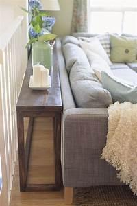 Console Derriere Canapé : 30 diy sofa console table tutorial diy furniture plans ~ Melissatoandfro.com Idées de Décoration