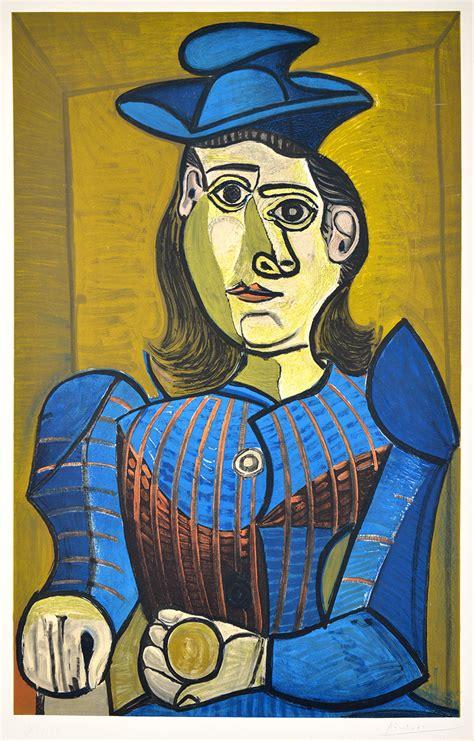 pablo picasso lithograph femme assise dora maar  sale