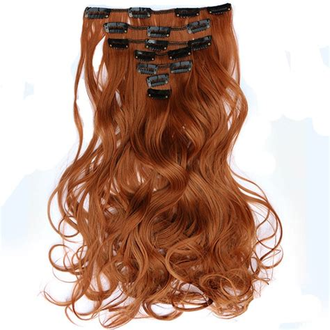 Feibin Clip In Hairpiece Hair Extensions Synthetic Long