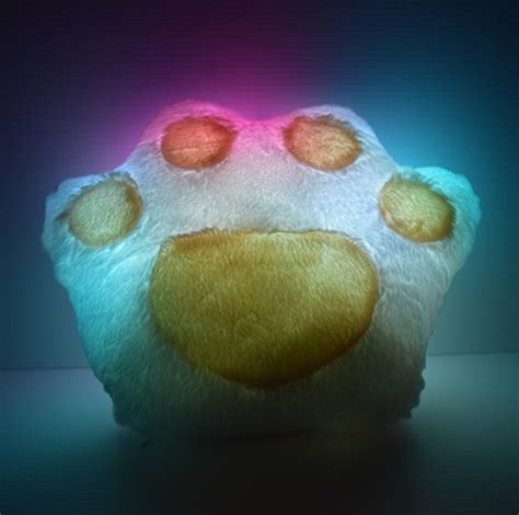 light up pillow led paw pillow bright led lights eternity led