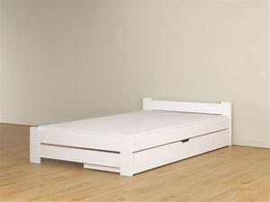 Weiße Betten 120x200 : details zu doppelbett mit lattenrost 120x200 wei bettkasten schublade weiss jugendbett ideen ~ Frokenaadalensverden.com Haus und Dekorationen