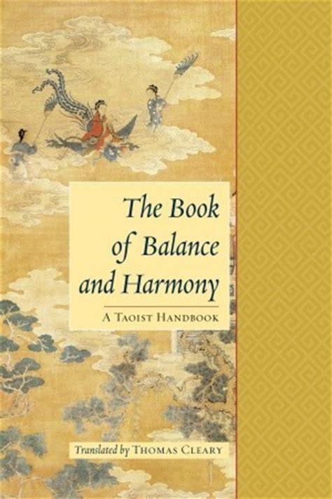 book  balance  harmony  taoist handbook  thomas cleary reviews discussion