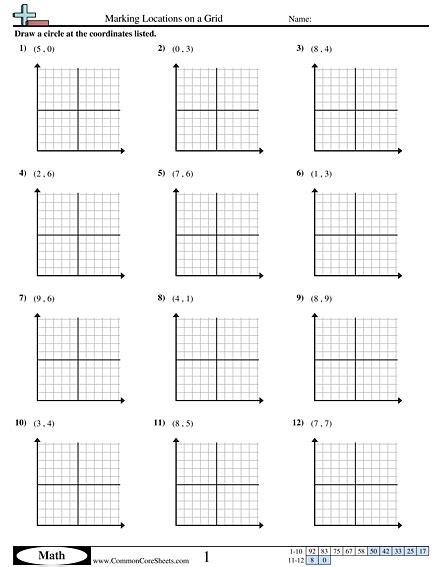 coordinate plane worksheet    worksheets image