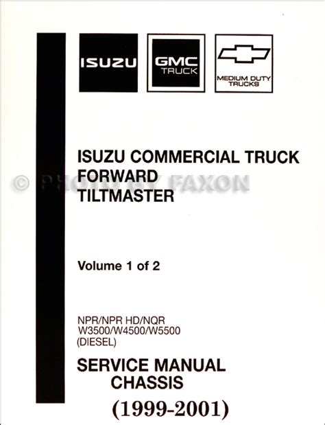 2002 Gmc W5500 Wiring Diagram by 1999 2001 Diesel Chassis Repair Shop Manual Orig Npr Nqr