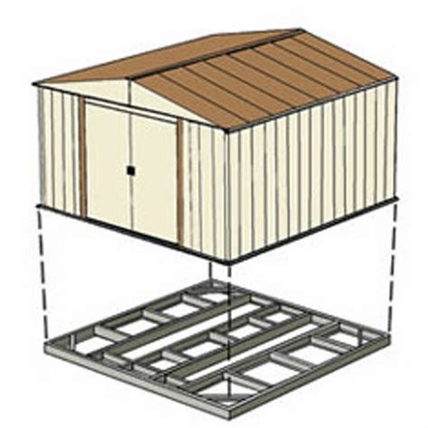 Arrow Galvanized Steel Storage Shed 10x8 by Arrow Outdoor Shed Foundation Kit 8 X 8 10 X 8 Or 10 X