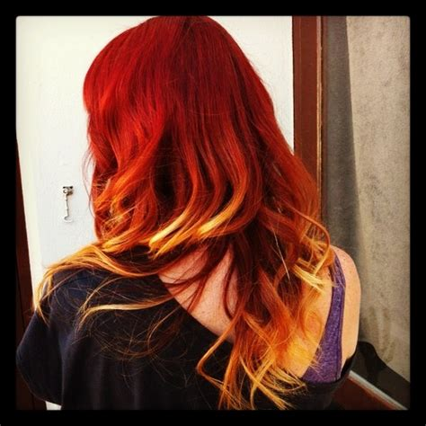 fire ombre hair awesome hair pinterest