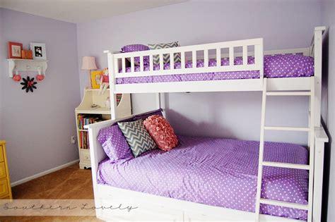 Purple Bunk Beds Kids Bedroom Impressive