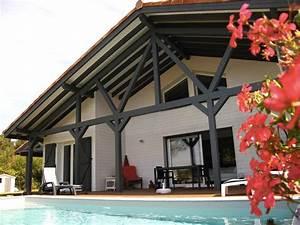 maison bois typique landaise par alaya la maison bois With maison peinte en gris