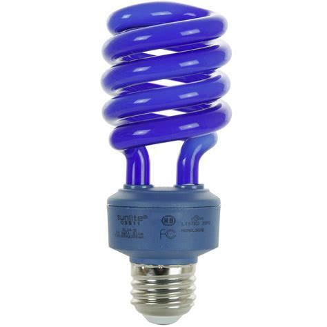 watt spiral energy saving cfl light bulb medium base