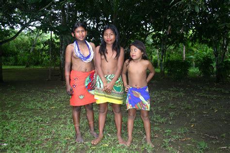 embera tribes girl bathing cumception