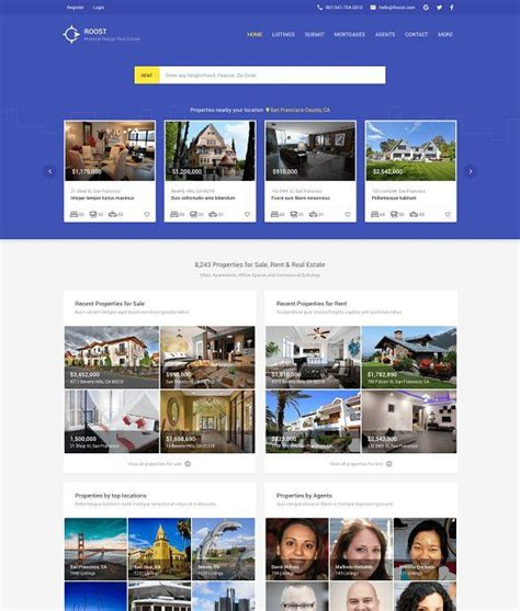 roost material design real estate  images material