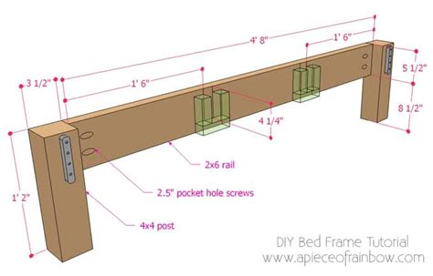 diy bed frame  wood headboard  piece  rainbow