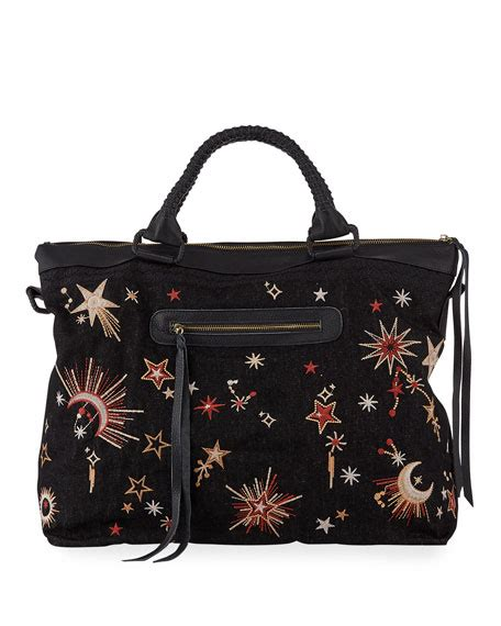 johnny  telesto celestial embroidered overnight tote bag neiman marcus