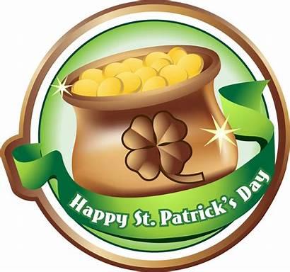 St Patricks Happy Clipart Patrick Clip Gold