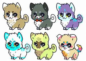 Chibi Dogs Adoptables - OPEN by Rice-Taiga on DeviantArt