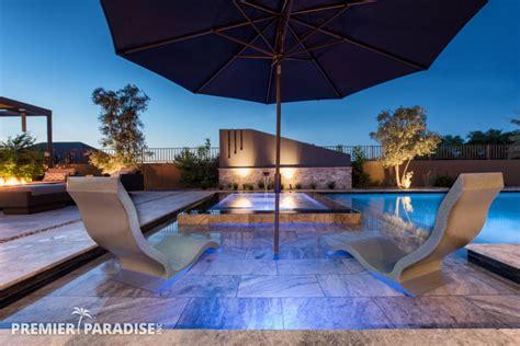 modern perimeter overflow spa luxury outdoor living