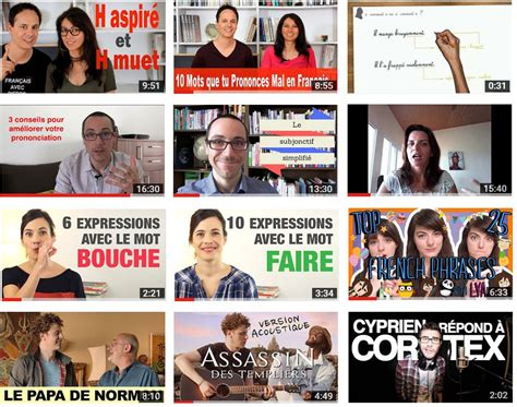 Chaînes youtube pour apprendre le français the best youtube channels to learn french