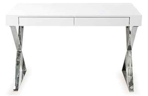 white desk with silver legs mix and chic fabulous finds modern white desks in every