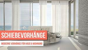 Gardinen Wohnzimmer Modern Ideen : schiebevorhang und fadenvorhang modern und praktisch ~ Buech-reservation.com Haus und Dekorationen