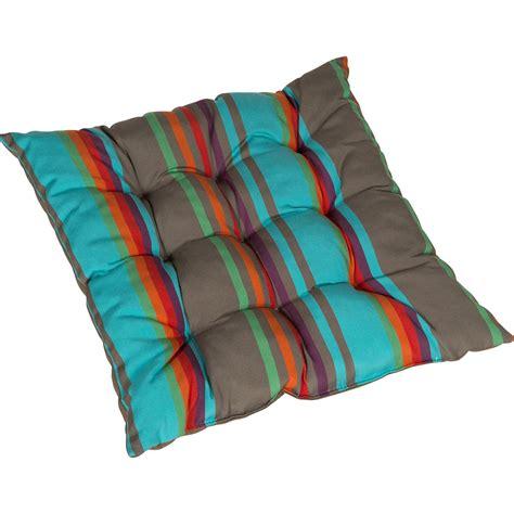 casa coussin de chaise coussin d 39 assise de chaise ou de fauteuil bleu samba jardin prive leroy merlin