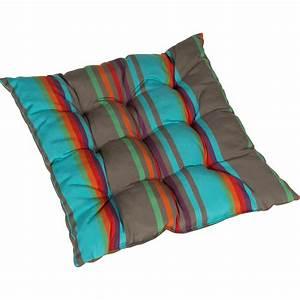 Coussin Fauteuil De Jardin : coussin d 39 assise de chaise ou de fauteuil bleu samba ~ Dailycaller-alerts.com Idées de Décoration