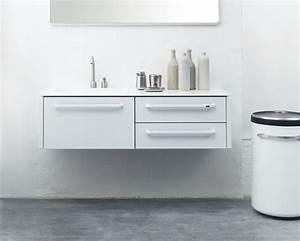 les meubles de salle de bains en acier et corian de vipp With meuble corian salle de bain