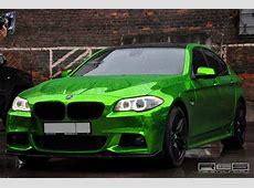Chroom groene BMW 550i doet pijn aan de ogen Autoblognl