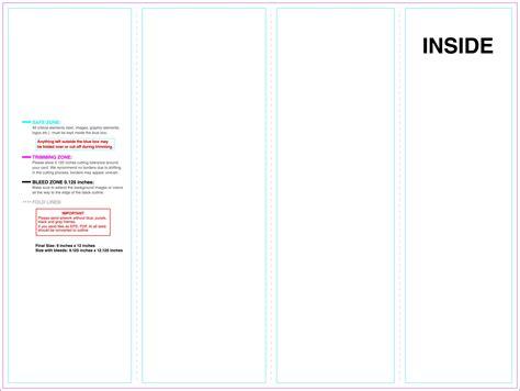 4 Panel Brochure Template Word by Brochure 4 Panel Brochure Template 4 Panel Brochure Template