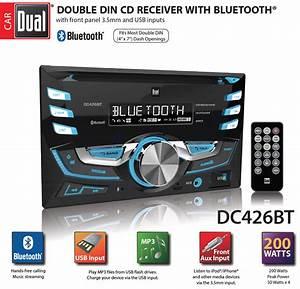 Dual Electronics Dc426bt Multimedia 3 7 Inch Double Din