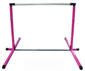 Pink 3'-5' Adjustable Gymnastics Bar