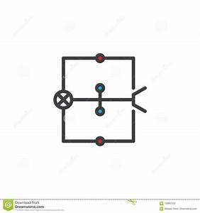Wiring Diagram Filled Outline Icon Stock Vector