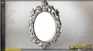 Miroir Baroque Argenté : miroir ovale baroque gris argent motifs v g taux ajour s ~ Teatrodelosmanantiales.com Idées de Décoration