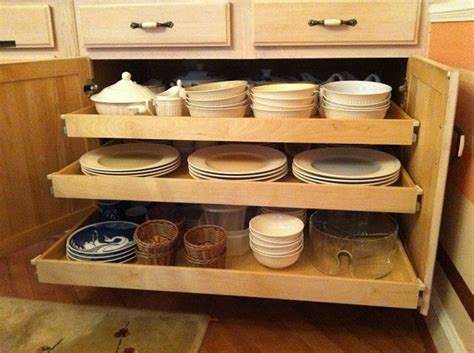 roll out kitchen cabinet shelfgenie of roll out kitchen shelves create more 4859