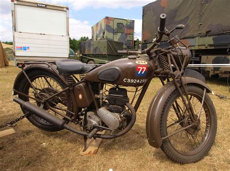 Old Military Bsa Motorcycle, C3924295, Pic1.jpg