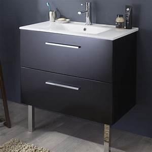 meuble salle de bain noir vente mobilier pour salle de bain With meuble de salle de bain 80
